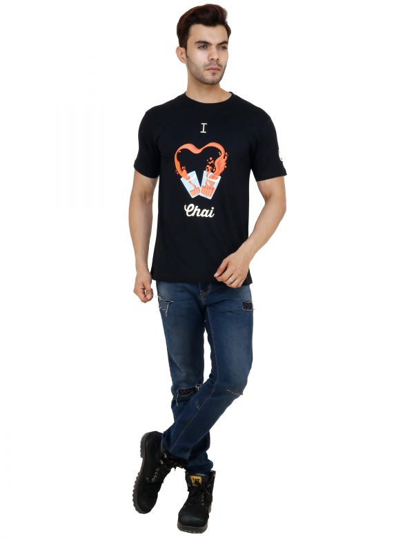 i love chai black colour unisex tshirt